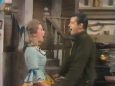 "Sally Ann Howe and Robert Goulet ""It's Almost Like Being In Love"" in a 1970's TV production of Brigadoon"