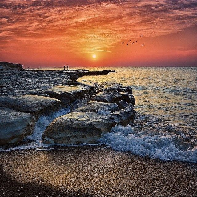 Sunrise at Governor's Beach Limassol cyprus
