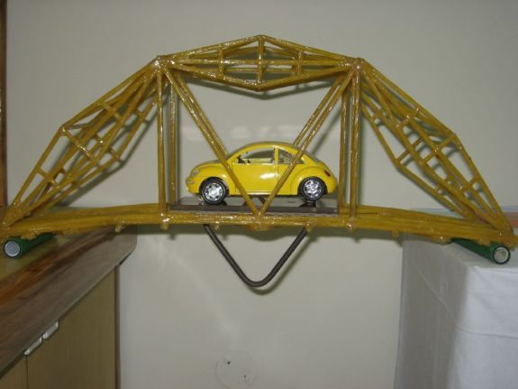 spaghetti bridge project Strands of spaghetti are long, so sometimes people break them in half so they  more  bridges are a great example—when cars drive over a bridge their weight  pushes  this project demonstrates engineering principles.