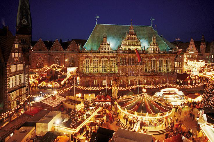 Christmas market, Bremen, Germany - I got to visit this in 1993.  Soooo amazing!