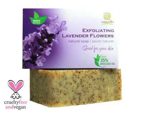 LAVENDER FLOWERS SOAP BAR  Gently exfoliate your stress away with our soothing lavender flowers soap bar. Let the lavender lift your mood while it cleanses and removes dead skin to help keep skin soft and supple.