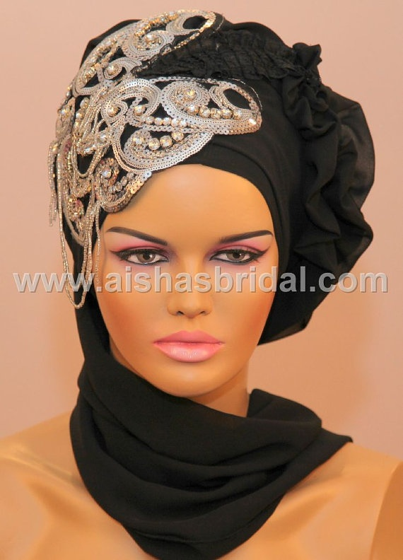 Ready To Wear Hijab  Code HT0064 by aishasbridal on Etsy, $40.00