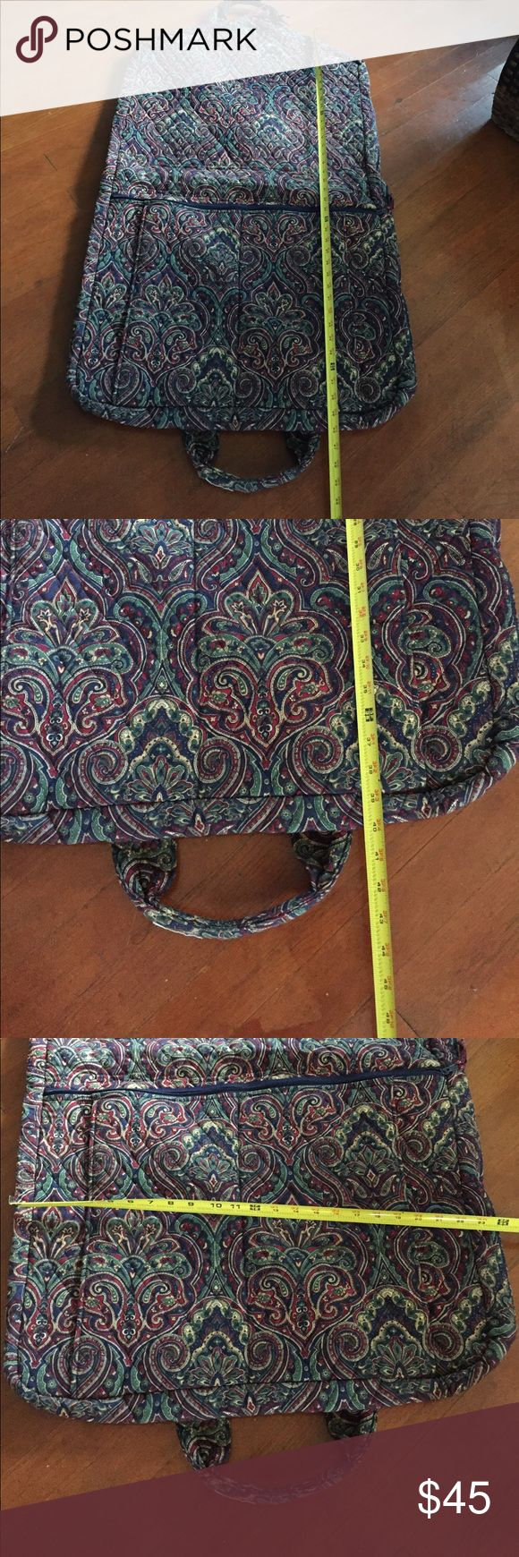 Vera Bradley Garment Bag A multi color garment bag that measure about 40 inches from top to end and about 24 inches from side to side in good used condition. Vera Bradley Bags