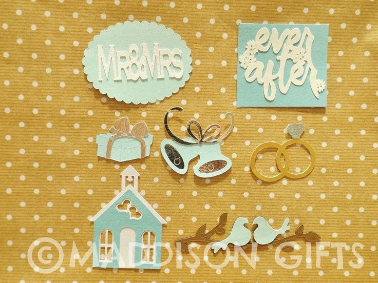 Wedding Card Making Toppers Engagements Couples Scrapbooking Embellishments Paper Craft Supplies by MaddycraftsCo on Etsy