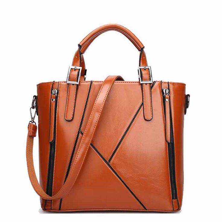 MANXISI Brand Women Bag 2016 European And American Brown Leather Bag Women Handbags Brand Shoulder Women Messenger Bags
