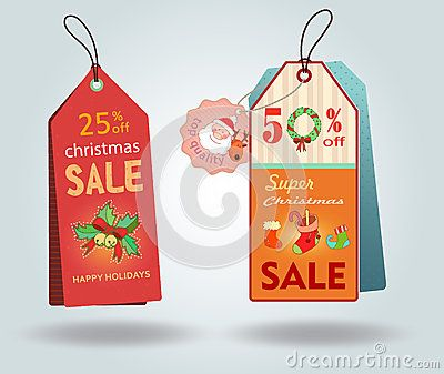 Etiquetas de descuento de precio de venta en época de navidad. 25%. Christmas…