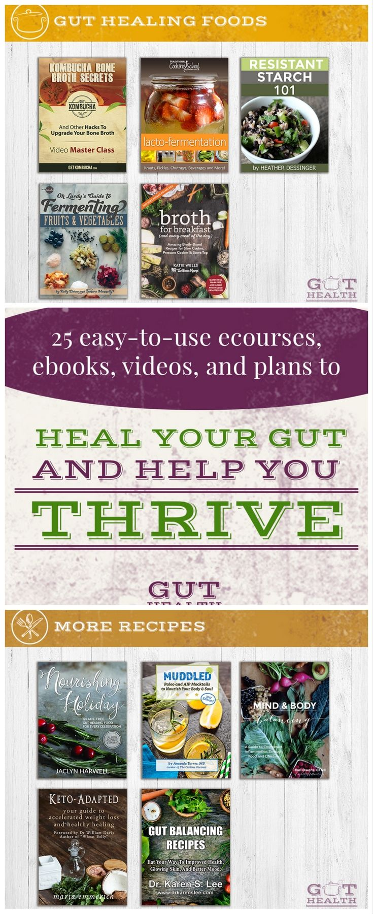 End your debilitating diarrhea, stomach pain, constipation, skin conditions and more. Simplify mealtimes with hundreds of delicious gut-healing recipes ...