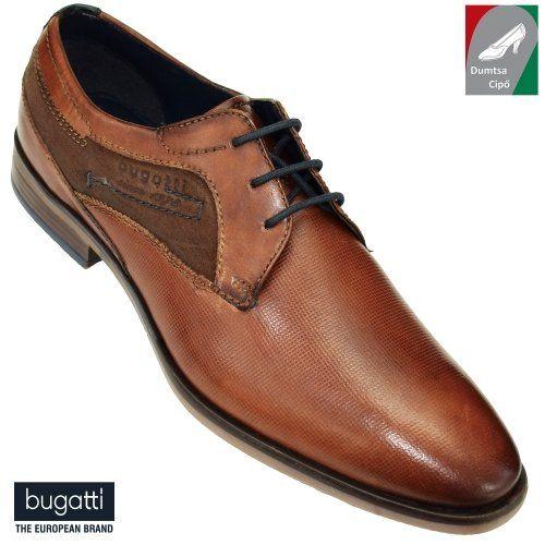Bugatti férfi bőr cipő 312-16702-2134-6363 konyak
