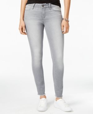 Articles of Society Sarah Frayed Skinny Jeans - Silver 26