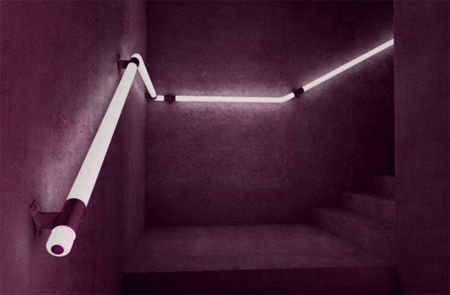 LED illuminated handrails look like they belong in a cyberpunk nightclub [x-post from /r/designporn]