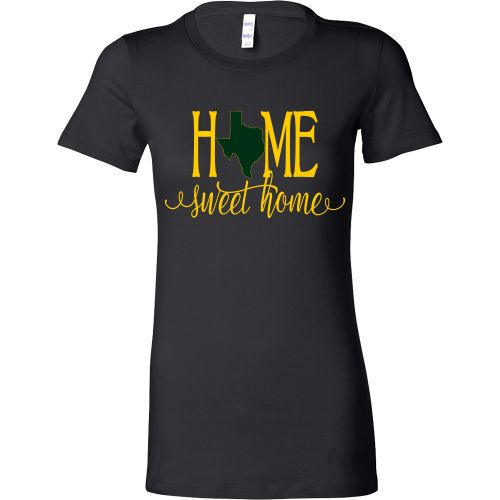 Home Sweet Home Texas Green and Gold Women's T-Shirt Slim Fit
