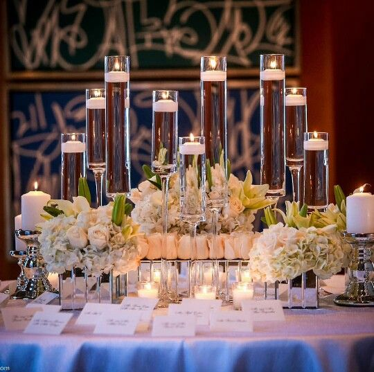 Glass vases - love the votive holders