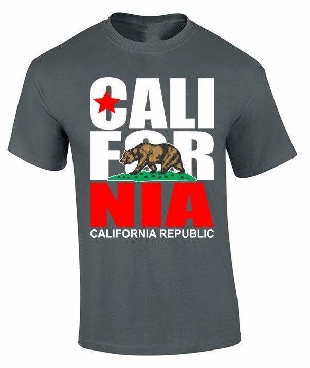 >> Click to Buy << Brand 2017 New T Shirt Man Cotton California T-SHIRT California republic state Bear flag California tee #Affiliate