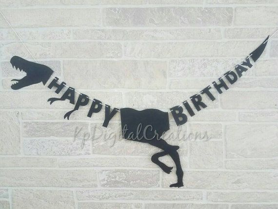 Dinosaur birthday banner, Dinosaur party ideas   Check out this item in my Etsy shop https://www.etsy.com/listing/498821179/dinosaur-birthday-banner-dinosaur-banner