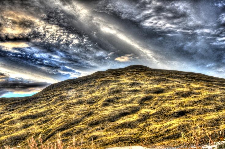 Une colline...