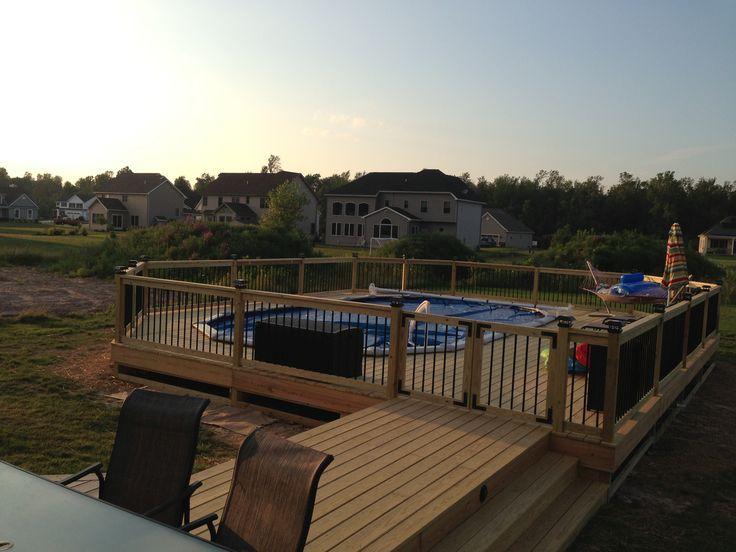 Our Semi Inground Pool