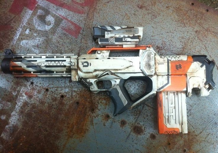 nerf district 9 inspired rifle by billy2917 on deviantART