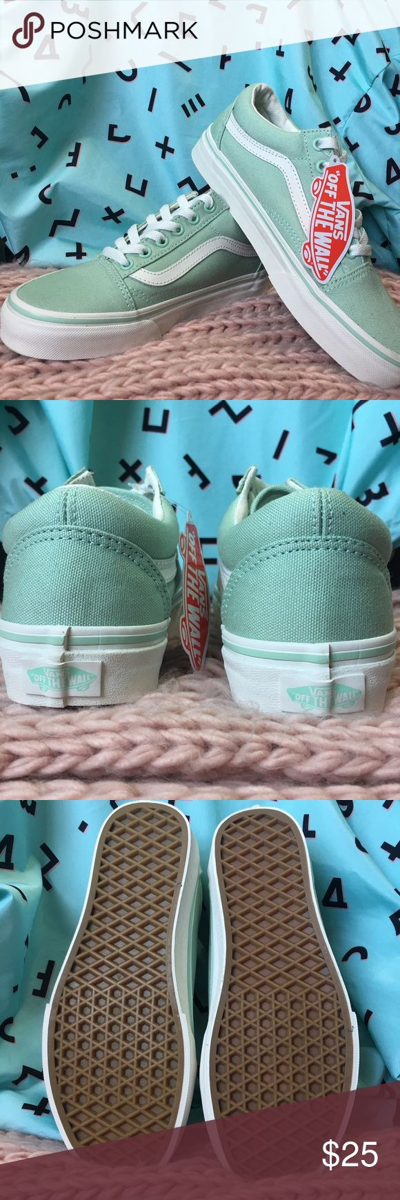 Mint vans Size 6 vans in a pastel mint green. Never worn and new with tags. Perfect for this spring 🌷Price is firm. 🌷 Vans Shoes Sneakers