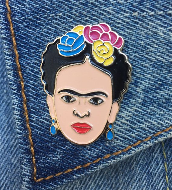 Frida Frida Kahlo Pin Soft Enamel Pin Jewelry by thefoundretail