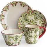 Jay Imports Bargello 16-pc. Dinnerware Set, Green - Dinnerware Sets > Dinnerware Sets