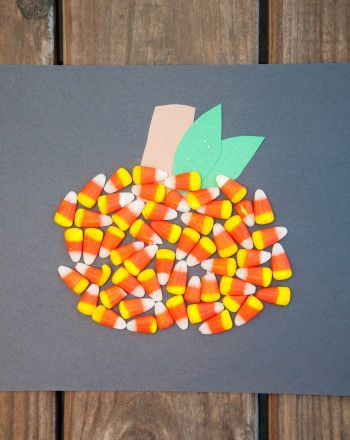 Activities: Candy Corn Pumpkin-good use for candy corn!