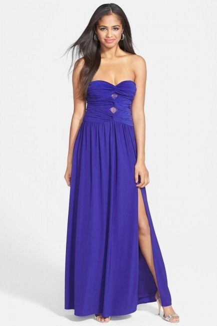 Hailey Logan Knot Detail Lace Inset Gown