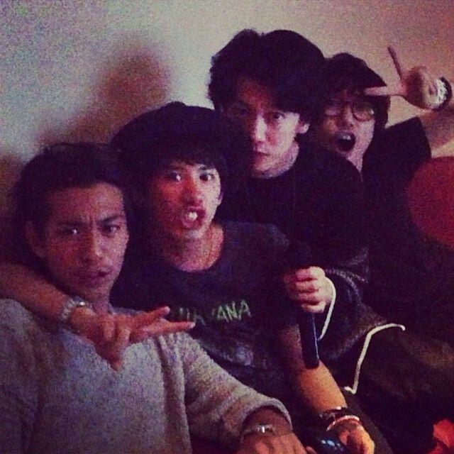 Taka with his friends, yu takahashi, takeru sato, and miura shohei   Taken from Taka Instagram