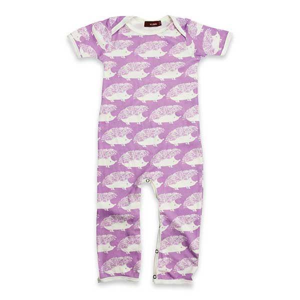 Milkbarn Romper - Lavender Hedgehog