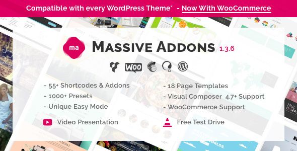 Massive Addons for Visual Composer v136 Web graphics theme wp - free test templates