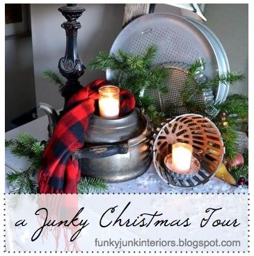 Funky Junk Interiors: An all natural junk filled 2011 Christmas reveal