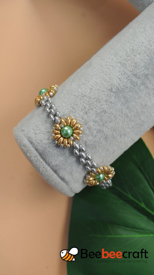 #Beebeecraft Tutorials on how to make #bracelet with #seedbeads and #pearlbeads.
