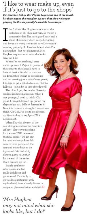 Downton Downstairs  ..Phyllis Logan, Good Housekeeping, Nov 2015..