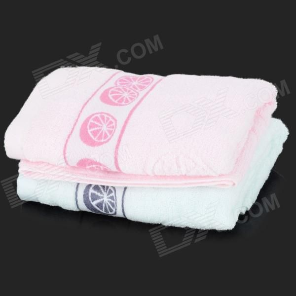 Brand: N/A; Model: 9216; Quantity: 2 piece(s) per pack; Color: Blue + pink; Material: Cotton; Specification: Soft and comfortable cotton material without any harm to the skin; Other Features: It fades a little in first use; Packing List: 2 x Towels; http://j.mp/1v3ciZn