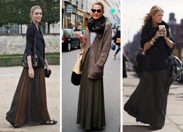 Ideas for maxi skirts