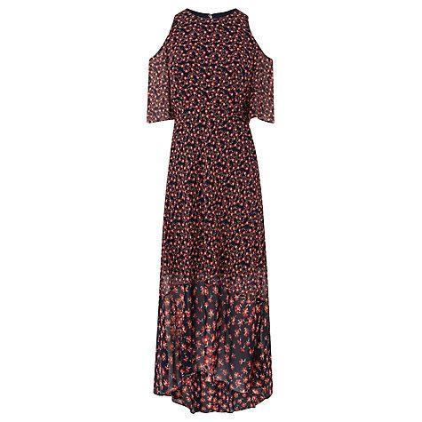 Buy L.K. Bennett Shauna Exposed Shoulder Silk Dress, Multi Online at johnlewis.com