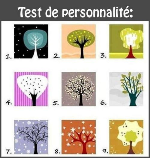 Test de personnalité avec des arbres