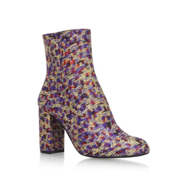 Kurt Geiger London Nova high heel ankle boots, Ankle Boots, High (3in and above), Block Heel, Round toe, Upper - Fabric, Clean with soft dry cloth.
