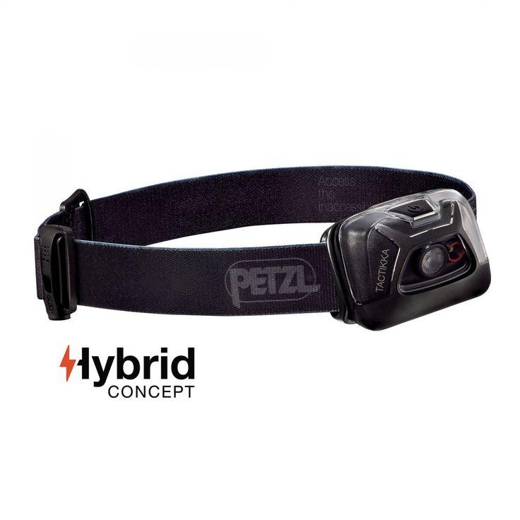 Petzl TACTIKKA schwarz| Kompakte 200 Lumen Stirnlampe ideal zum Jagen und Angeln.