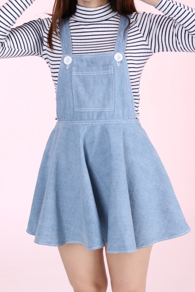 Image of PRE ORDER -  Light Denim Pinafore by GFD
