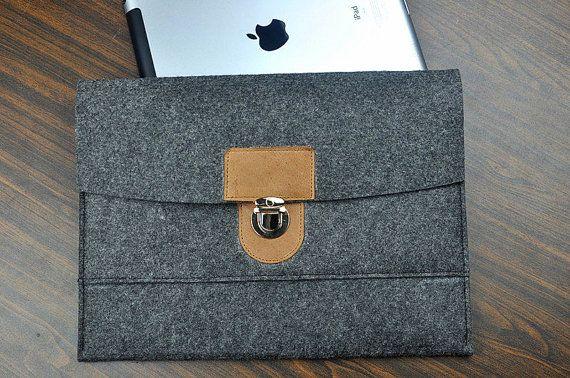 Macboook 12 case leather laptop sleeve New macbook by FeltBagWorld