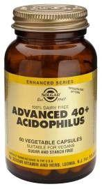 Solgar 40 Plus Acidophilus Avanzado, 120 cápsulas
