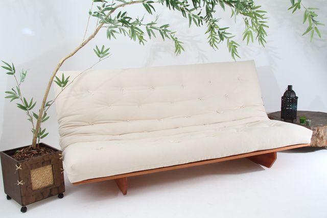 Sof cama futon modelo l 1 90m 1 30m duas posi es cama for Sofa cama puff barato