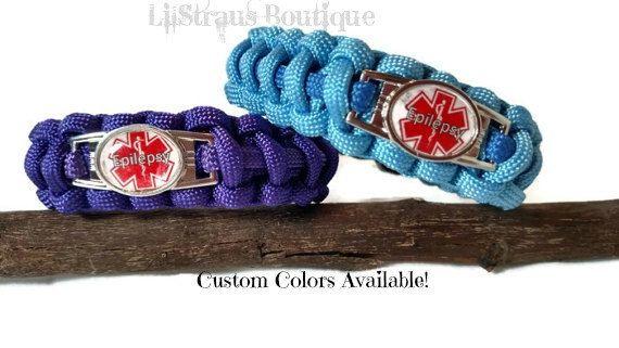Epilepsy Medical Alert ID Paracord Survival Bracelet Custom Handmade to Order | Jewelry | Bracelets | Id & Medical Bracelets  | paracord | survival bracelet  | medical alert | alert | epilepsy jewelry |  epilepsy | epilepsy alert |  epilepsy bracelet | medical ID  | medical jewelry | medical bracelet  | alert bracelet | LilStraus Boutique