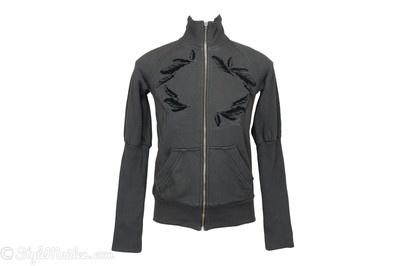 DIESEL Full-Zip Dark Grey Sweatshirt Size S at http://stylemaiden.com