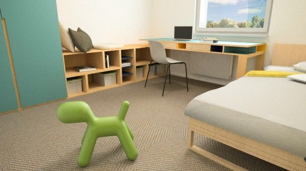 Návrh interiéru detskej izby - interiér 3-izbového bytu, rekonštrukcia, Dibrovova, Stará Turá - Interiérový dizajn / Children´s room interior by Archilab