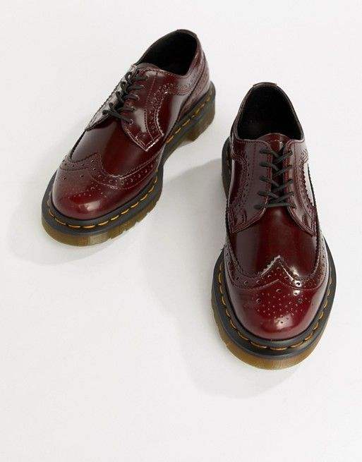 a8536e012da Dr Martens 3989 Cherry Stacked Brogues | Shoes | Dr martens, Doc ...