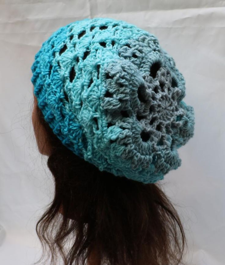 Slouch Hat in Lion Brand Mandala Spirit by Donelda's Creations