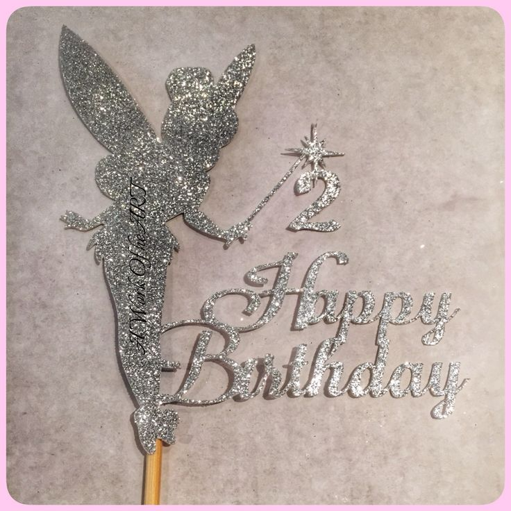 Tinkerbell cake topper, available in any design
