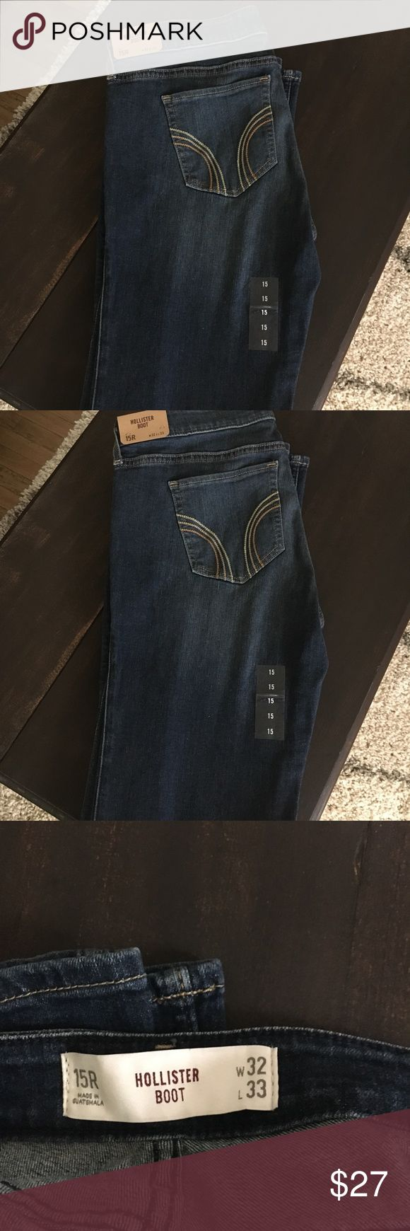 Women's Hollister boot cut jeans NWT 15R Women's Hollister boot cut jeans 15R  32X 33 NWT  super cute stretchy jeans 👖  Fast shipping 🏃🏼♀️🏃🏼♀️ Hollister Jeans Boot Cut