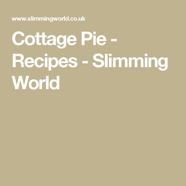 Cottage Pie - Recipes - Slimming World